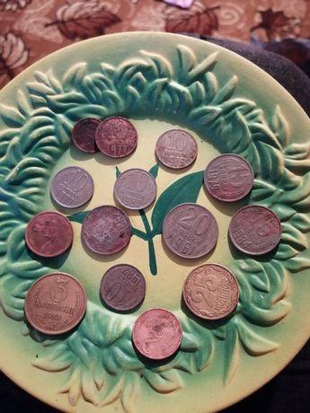 Монеты разные.                 Разных годов