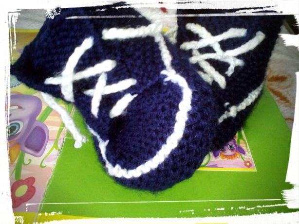 Вязание пинетки кроссовки кеды
