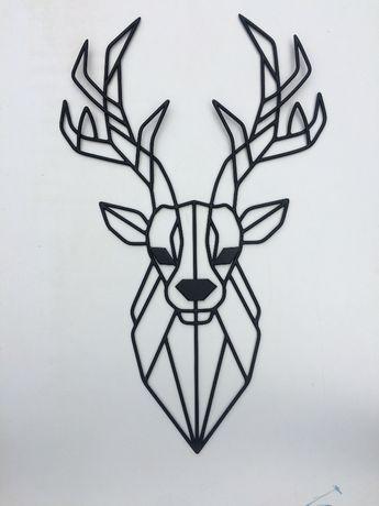 Настенный декор панно картина Олень лофт из металла ручной работы!!!