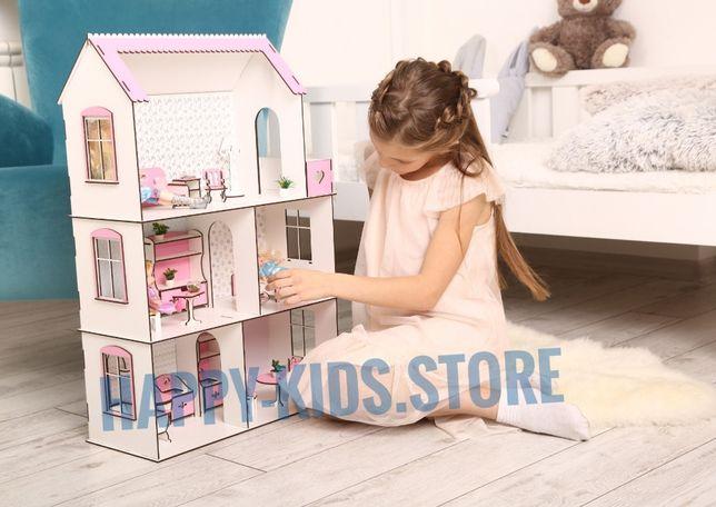 Кукольный домик для Барби, ЛОЛ. Плюс Мебель! Ляльковий будинок