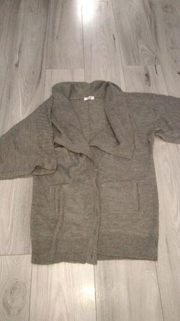 Sweter rozpinany kardigan szary