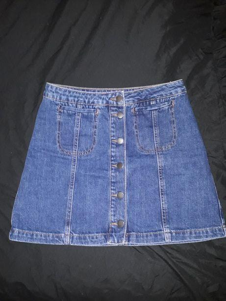 Стильная джинсовая юбка, размер М