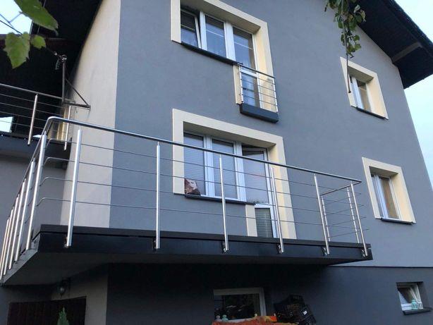 Balustrada balustrady ze stali nierdzewnej schody Poręcze balkony