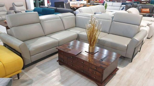 Narożnik skórzany z funkcją spania MELLOW Etap Sofa Promocja 30%