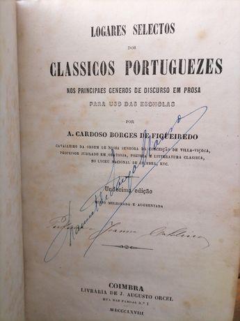 1868!!!Logares Selectos dos Classicos Portuguezes-A.Cardoso Figueiredo