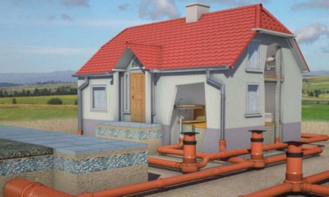 Przyłącza wod-kan, woda, kanalizacja,koparka,przecisk kret