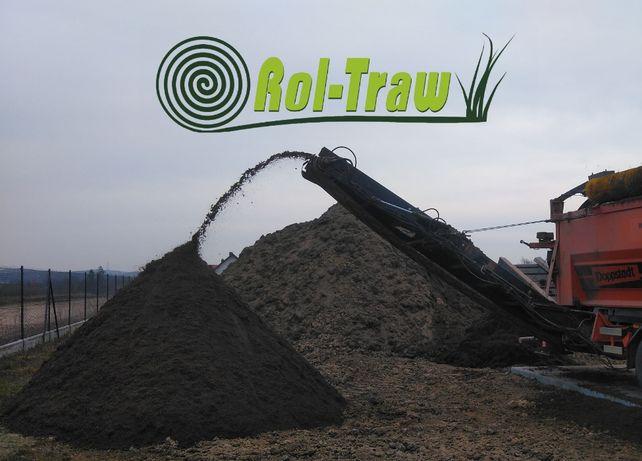 ROL-TRAW Czarnoziem siany pod trawnik, ziemia urodzajna ogrodowa humus