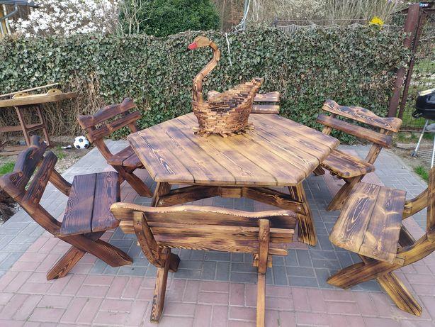 Stół, ławki ogrodowe, tarasowe