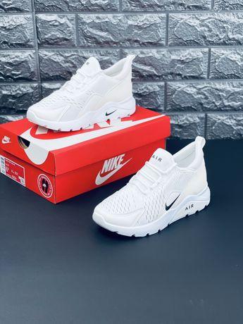 Ядовито белые кроссовки Найк Nike Air Max 270 2021 Just Do It Новинка!