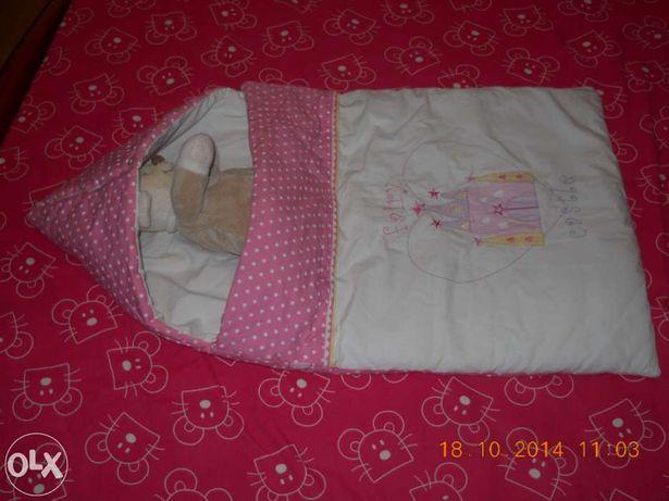 Saco-cama para bebé - cor de rosa