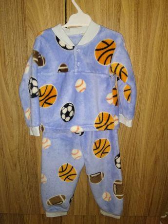 Пижама детская теплая костюм штаны кофта