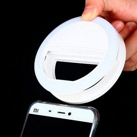 Световое кольцо для селфи, подсветка (вспышка) на камеру смартфона