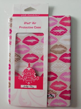 iPad Air Case Etui Pink Chandelier Jennifer Ellory Wzór usta