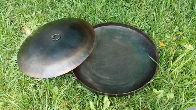 Сковорода с диска бороны, сковорода мангал, с крышкой 40 см. Подарок!