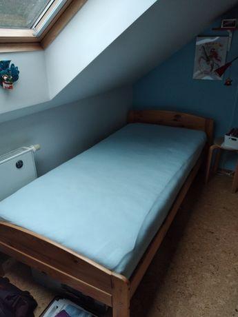 łóżko jednoosobowe plus nowy materac