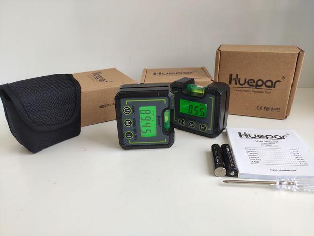 Цифровой транспортир Huepar угломер инклинометр конический манометр