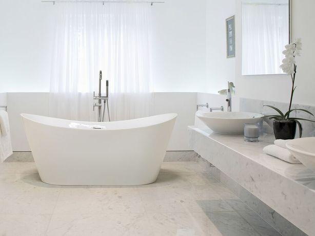 Banheira autónoma 180 cm em acrílico branco ANTIGUA - Beliani