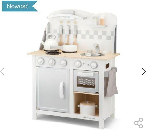 Nowa kuchnia drewniana biała New Classic Toys Deluxe white/silver