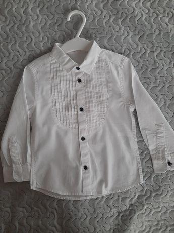 Koszula elegancka biała chłopiec 92 H&M