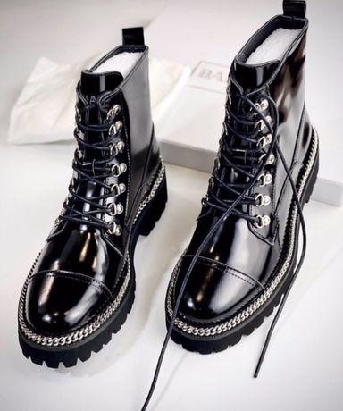 Ботинки Balmain Балман черные