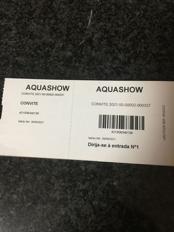 Convites Aquashow