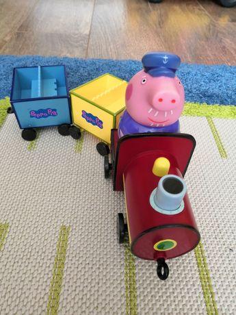 Поезд дедушки Свина , оригинал , паровозик пеппы, пеппа