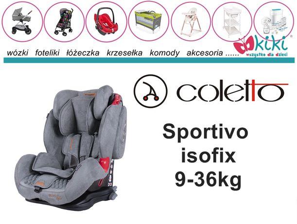 Fotelik samochodowy Coletto Sportivo Isofix 9-36 kg