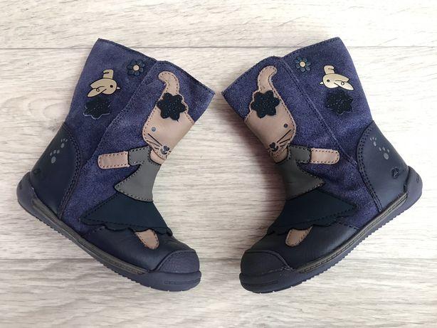 Демисезонные сапожки ботинки Clarks 20 р 12 см отличное состояние