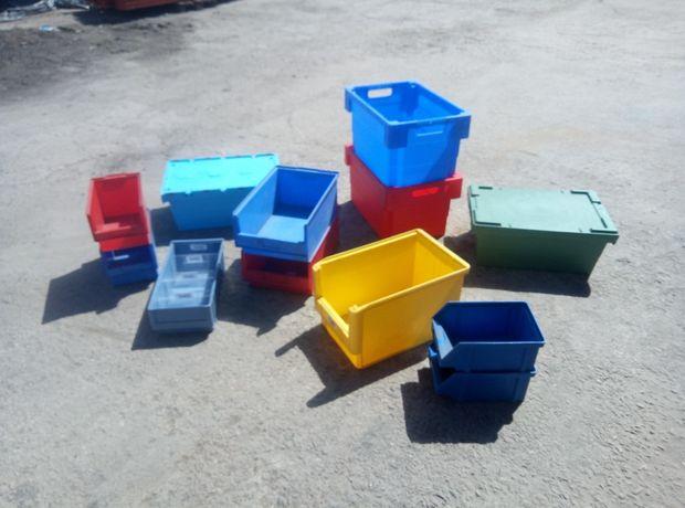 Пластиковые ящики,ящики бу, лотки пластиковые , ящик с крышкой,