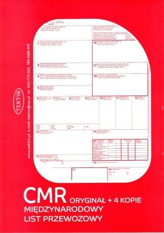 CMR- Międzynarodowy list - 1+3, 1+4 - LOGO + GRATIS