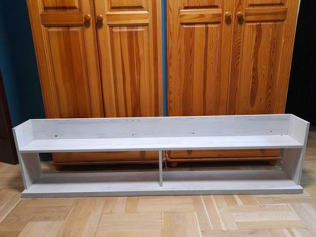 Półka wisząca 180 cm, biała sosna