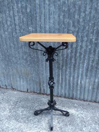 Mesa de artesanato ferro e com tampo de pinho de alta qualidade