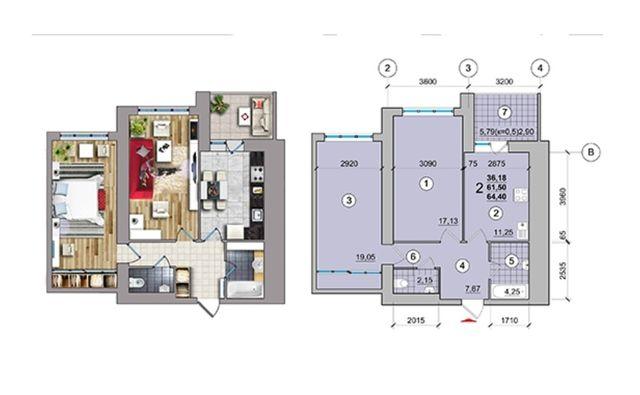 Продажа 2-х комнатной квартиры в новострое !