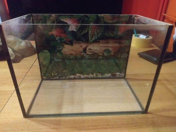 Małe akwarium 24x13x18 używane
