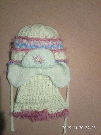 фирменный набор Amal шапка и шарф 5-7лет