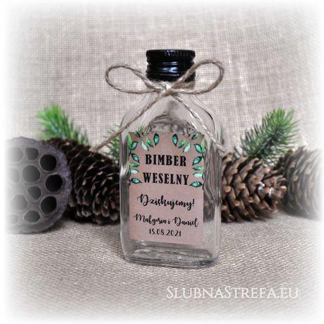 piersiówka buteleczka na bimber podziękowanie dla gości ślub