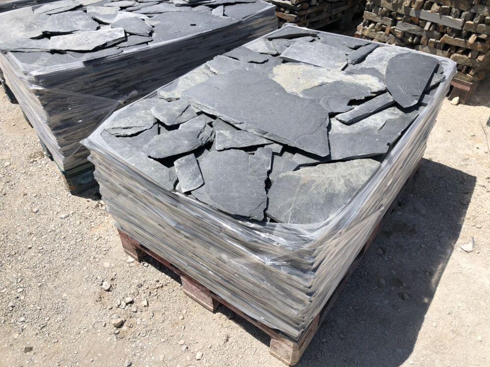 Pedra preta rústica Ardosia