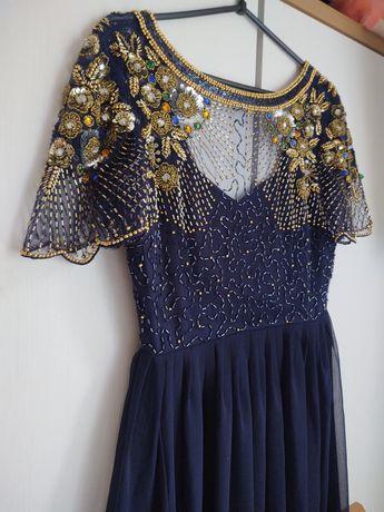 Sukienka ASOS 36 wieczorowa z odobami