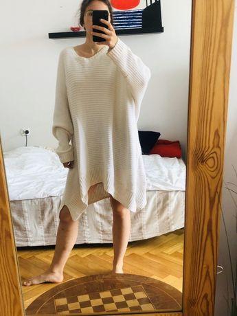 Sweter biały oversize ciążowy