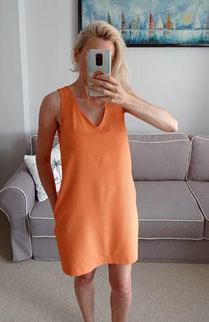 Pomarańczowa sukienka Mohito r.38