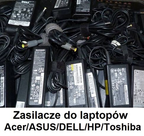 Zasilacze do laptopów Acer/ASUS/Dell/HP/\Lenovo/Toshiba/Sony