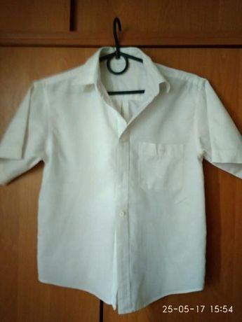 Рубашка белая подростковая,на рост 152-156см