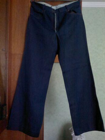 Брюки штаны джинсы джинсовые синие широкие прямые СССР.Винтаж.Раритет