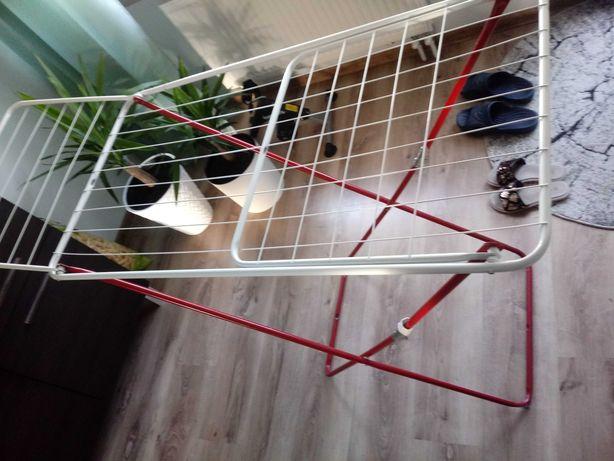 Suszarka na pranie rozkładana składana biało-czerwona