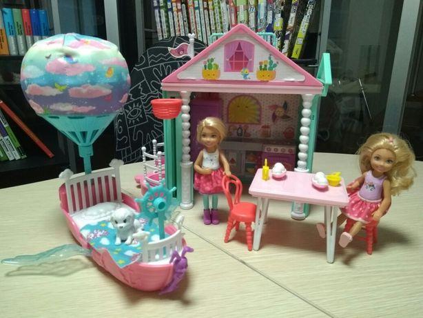 Mattel Barbie оригинал домик развлечений куклы Челси сестры Барби