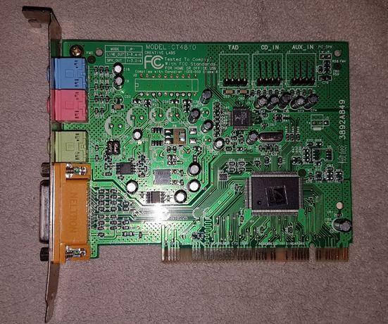 Karty muzyczne dźwiękowe ISA/PCI do retro starego komputera