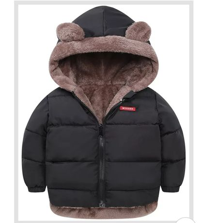 Nowa z metką czarna kurtka zimowa rozmiar 98 104/ 110 dwustronna