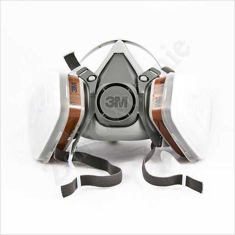 Półmaska lakiernicza 3M 6200 A1P1 używana z filtrami wymiennymi