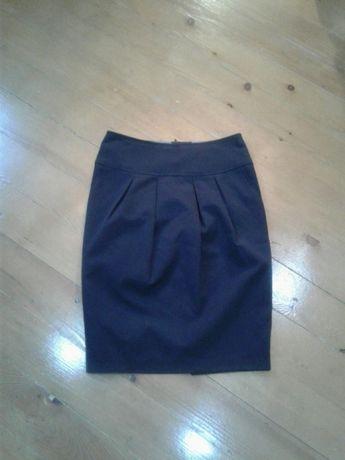 Фирменная юбка-карандаш с карманами S весна