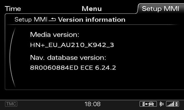 AUDI - Atualização Firmware + Mapas GPS MMI 3G+ PLUS - A1 - ano 2021